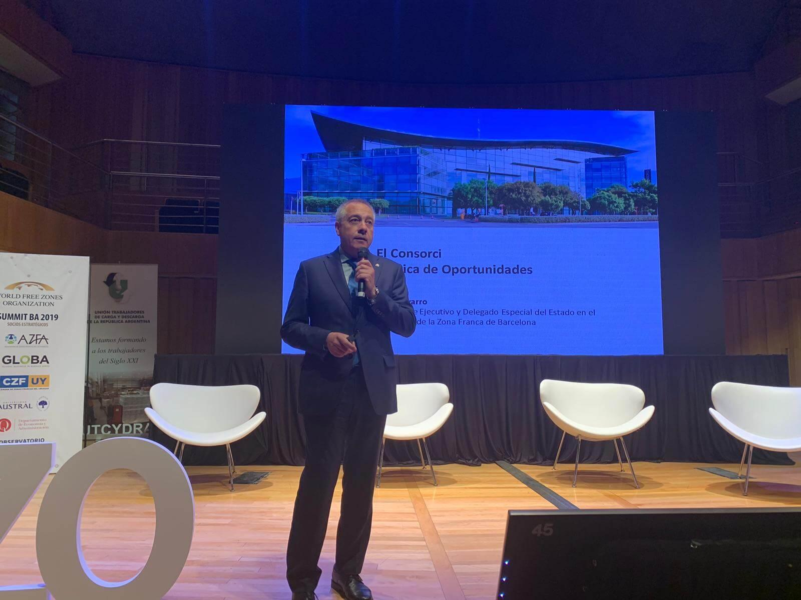 Pere Navarro promociona a Buenos Aires el Congrés Mundial de Zones Franques