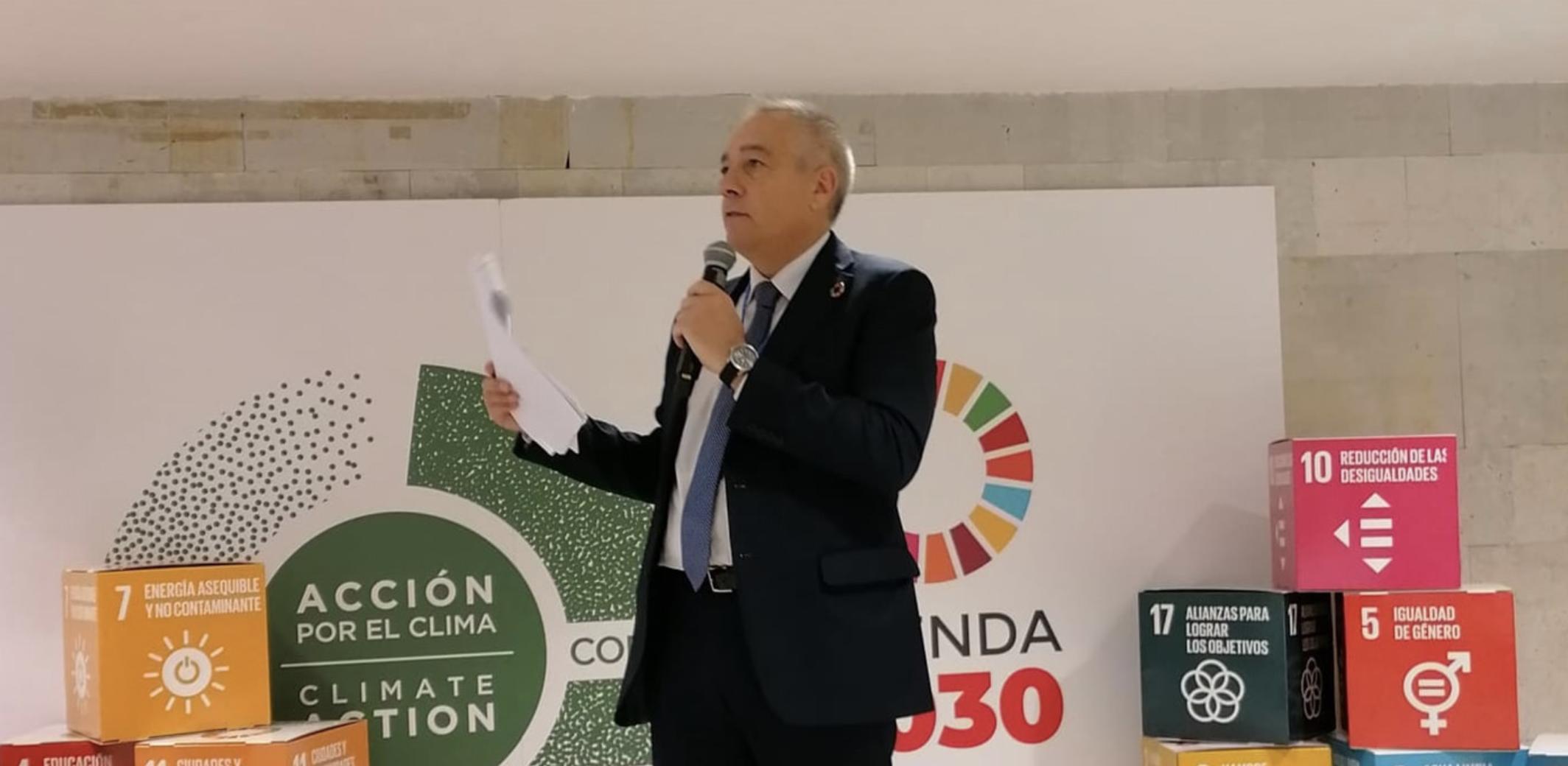 Navarro exposa el procés de transformació de la Zona Franca de Barcelona a la Cimera del Clima COP25