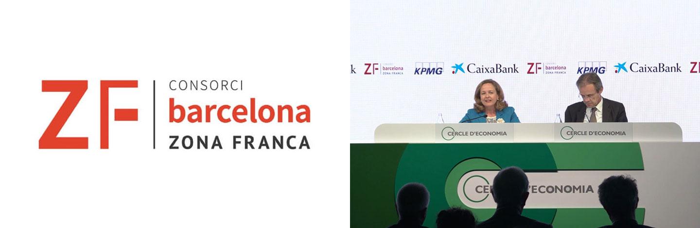 La Zona Franca estrena un nou logotip corporatiu a la reunió del Cercle d'Economia de Sitges
